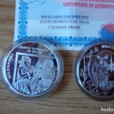 Monedas locales: MONEDA PLATA MILENARIO SANTO DOMINGO DE SILOS PERFECTA. Lote 86941504