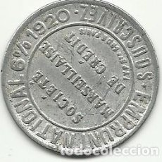 Monedas locales: (FCP-61)FICHA 10 CTS.SOCIETE MARSEILLASE DE CREDIT (FRANCIA). Lote 86943896