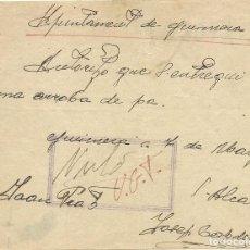Monedas locales: (FC-170601)VALE AJUNTAMENT DE GUIMERA (LLEIDA) - GUERRA CIVIL. Lote 88948100