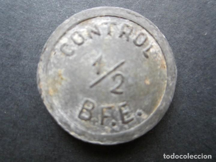 FICHA PARA ACCESO DE METAL RARA (Numismática - España Modernas y Contemporáneas - Locales y Fichas Dinerarias y Comerciales)