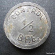 Monedas locales: FICHA PARA ACCESO DE METAL RARA. Lote 90372880