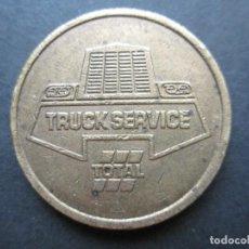 Monedas locales: FICHA DE ESTACIONAMIENTO EN COBRE O LATÓN. Lote 90372976