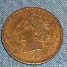 Monedas locales: FICHA MODERNISTA DE CASINO 25 CENTIMOS. Lote 90376912