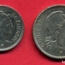 Monedas locales: MONEDA LOCAL , SERIE GOBIERNO EUZKADI , 1 Y 2 PESETAS 1937 , EBC , ORIGINAL , A15. Lote 91746290