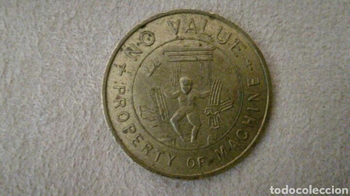 Monedas locales: Ficha token de 1 libra para máquina - Foto 2 - 92267307