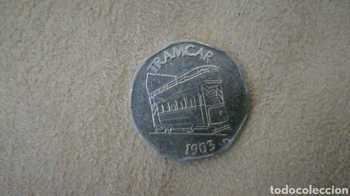 FICHA DE 20 NATIONAL TRANSPORT TOKEN 1903 (Numismática - España Modernas y Contemporáneas - Locales y Fichas Dinerarias y Comerciales)