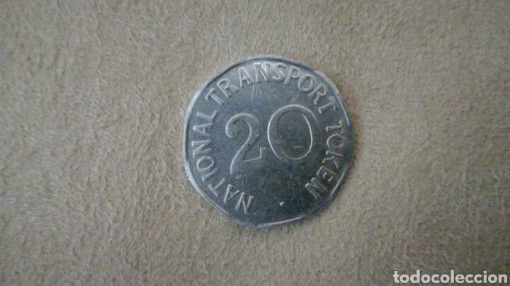 Monedas locales: Ficha de 20 National Transport Token 1903 - Foto 2 - 92267403
