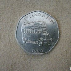 Monedas locales: FICHA DE 20 NATIONAL TRANSPORT TOKEN 1920. Lote 92267517