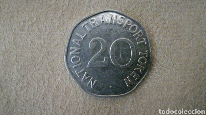 Monedas locales: Ficha de 20 National Transport Token 1920 - Foto 2 - 92267517
