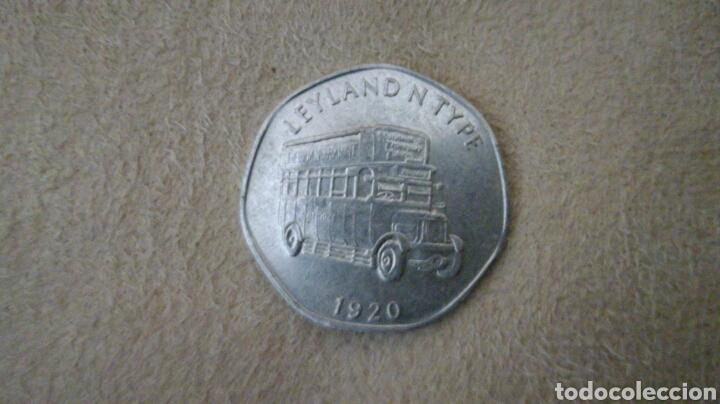 FICHA DE 20 NATIONAL TRANSPORT TOKEN 1920 (Numismática - España Modernas y Contemporáneas - Locales y Fichas Dinerarias y Comerciales)