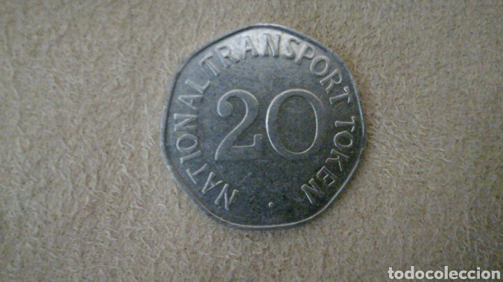 Monedas locales: Ficha de 20 National Transport Token 1920 - Foto 2 - 92267578