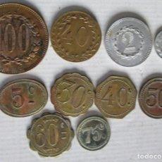 Monedas locales: 10 FICHAS DE JUEGO. Lote 93337415