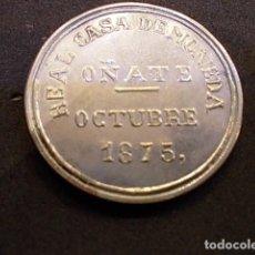 Monedas locales: MONEDA CONMEMORATIVA 5 PTAS DE OÑATE OCTUBRE 1875 CARLOS VII CONMEMORA CENTENARIO CARLISMO 1975. Lote 93569115