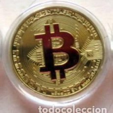 Monedas locales: BITCOIN - EN CAPSULA-DORADA. Lote 93993950