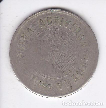 Monedas locales: FICHA DE 2 PESETAS DE LA NUEVA ACTIVIDAD OBRERA DE SANS DEL AÑO 1932 (MONEDA) - Foto 2 - 94382830