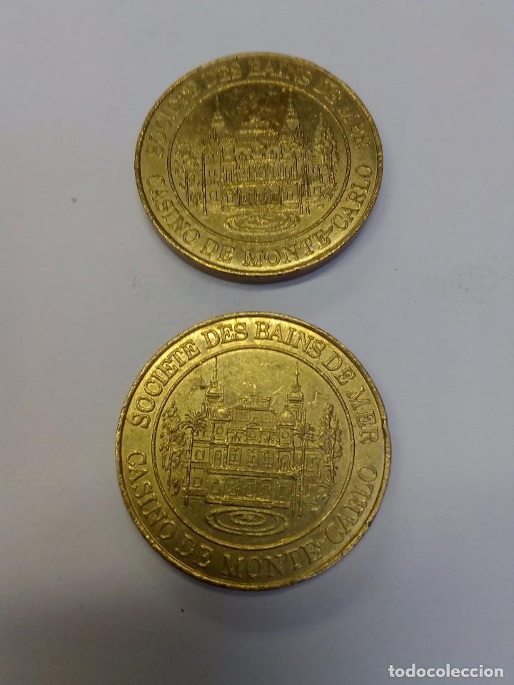 DOS MONEDAS DEL CASINO DE MONTECARLO (Numismática - España Modernas y Contemporáneas - Locales y Fichas Dinerarias y Comerciales)
