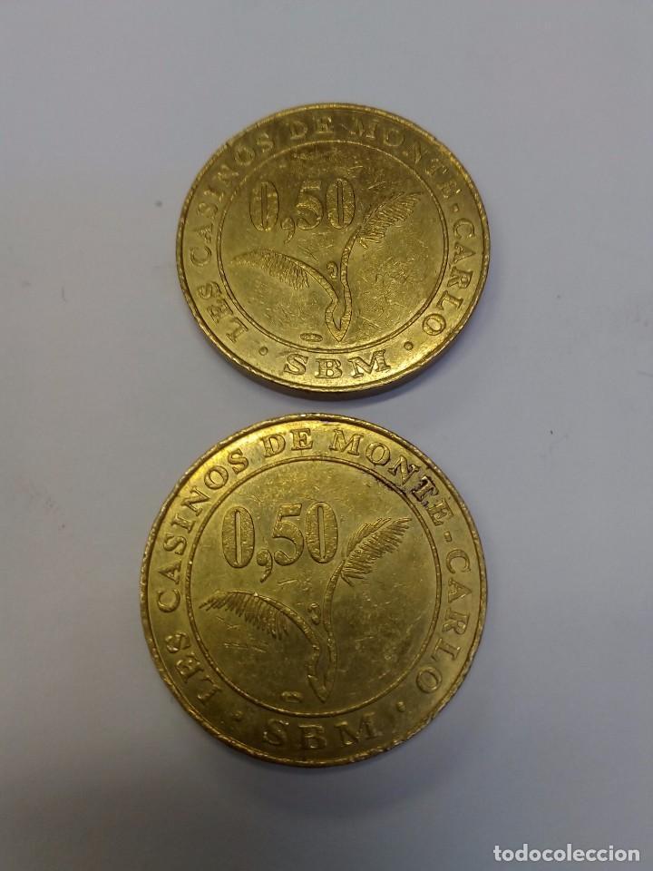 Monedas locales: Dos monedas del Casino de Montecarlo - Foto 3 - 97125375