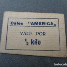 Monedas locales: PAMPLONA. NAVARRA. CAFÉS AMERICA. VALE POR MEDIO KILO. LUIS BELOSO. Lote 98158387