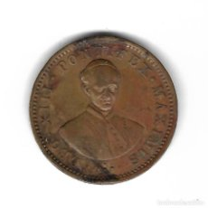 Monedas locales: FICHA. CHOCOLATE GLORIA COBO HERMANOS. MADRID. IMAGEN DE LEO XIII PONTIFICE MAXIMO.. Lote 99125567