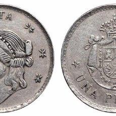 Monedas locales: *** RARA FICHA 1 PESETA DEL CASINO DE MÁLAGA ***. Lote 99972419
