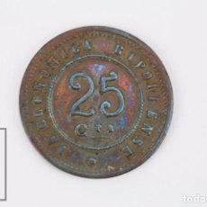 Monedas locales: ANTIGUA FICHA DINERARIA - LA ECONÓMICA RIPOLLENSE / RIPOLL - 25 CÈNTIMS / CÉNTIMOS - COOPERATISMO. Lote 100504595