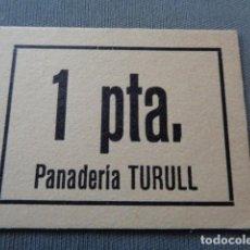 Monedas locales: PANADERÍA TURULL. CATALUÑA. 1 PESETA. SC. Lote 101223595