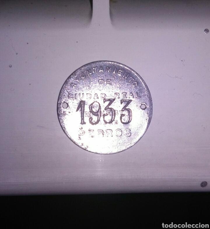 CIUDAD REAL 1933 IMPUESTO SOBRE PERROS (Numismática - España Modernas y Contemporáneas - Locales y Fichas Dinerarias y Comerciales)