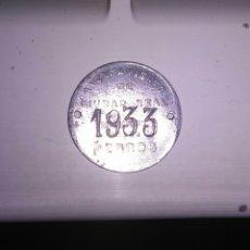 Monedas locales: CIUDAD REAL 1933 IMPUESTO SOBRE PERROS. Lote 101783082