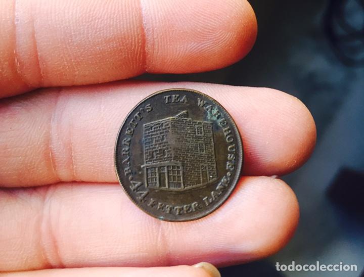 FICHA INGLESA ANTIGUA A IDENTIFICAR (Numismática - España Modernas y Contemporáneas - Locales y Fichas Dinerarias y Comerciales)