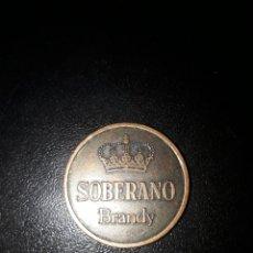 Monedas locales: FICHA O MONEDA SOBERANO BRANDY. GONZÁLEZ BYASS JEREZ. Lote 103336735