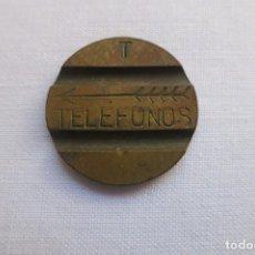 Monedas locales: FICHA DE TELEFONOS LETRA T. Lote 103915155
