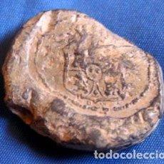 Monedas locales: GRAN PRECINTO PLOMO / ESCUDO BORBÓNICO - 1870 / 29 GRS. Lote 104158599