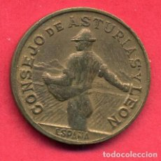 Monedas locales: MONEDA LOCAL GUERRA CIVIL , 1 PESETA CONSEJO ASTURIAS Y LEON , 1937 , ORIGINAL , A21. Lote 105987291