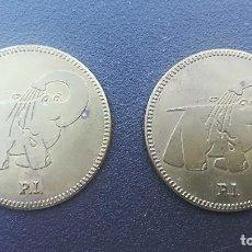 Monedas locales: FICHA JETÓN LAVADO DE VEHÍCULOS ITALIA ELEFANTINO BLUE PACK 2 UNIDADES DIÁMETRO 32MM. Lote 107883663