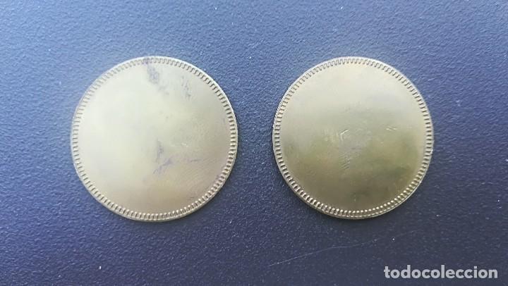 Monedas locales: FICHA JETÓN LAVADO DE VEHÍCULOS ITALIA ELEFANTINO BLUE PACK 2 UNIDADES DIÁMETRO 32MM - Foto 2 - 107883663