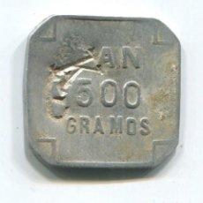 Monedas locales: FICHA DE COOPERATIVA CATOLICA DE ERANDIO 500 GRAMOS DE PAN. Lote 107926107