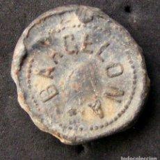 Monedas locales: PLOMO, AGENCIA CENTRAL DE LAS HILATURAS, BARCELONA. Lote 108041891