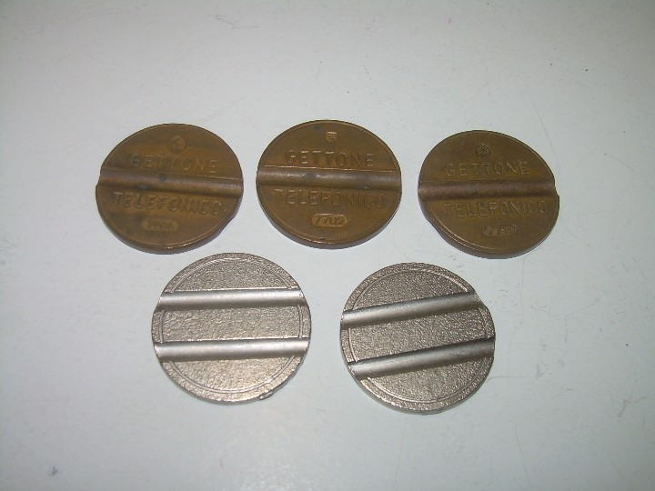 Monedas locales: CINCO FICHAS TELEFONICAS. - Foto 2 - 108449467