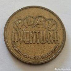 Monedas locales: FICHA TOKEN DE JUEGO DE PLAY AVENTURA. CENTRO DE ENTRETENIMIENTO. VINTAGE. YA NO SE USAN. Lote 108997155