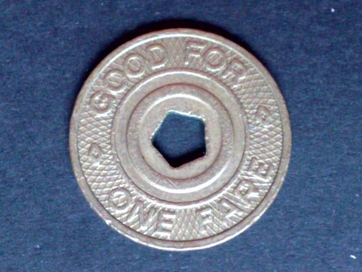 Monedas locales: FICHA/MONEDA METALICA-TRANSIT-AUTORITY DE NEW YORK-GOOD FOR ONE FARE (DESCRIPCIÓN) - Foto 2 - 109147491