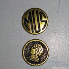 Monedas locales: FICHA-JETON-TOKEN DE JUEGO -MUS FOURNIER-. Lote 230089030