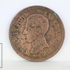 Monedas locales: ANTIGUA FICHA CONMEMORATIVA - ALFONSO XIII. CAVAS CODORNIU, AÑO 1909 - DIÁMETRO 25 MM. Lote 109756007