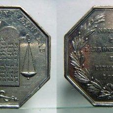 Monedas locales: MEDALLA JETON NOTAIRES DE L'ARRONDISSEMENT DE PITHIVIERS,PLATA 16,40GR.. Lote 110348035