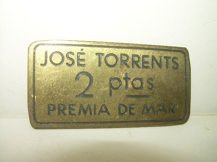 Monedas locales: ANTIGUA FICHA DINERARIA....COOPERATIVA OBRERA...PREMIA DE MAR..BARCELONA...JOSE TORRENTS. - Foto 3 - 110781503