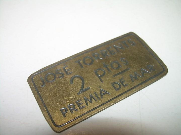 Monedas locales: ANTIGUA FICHA DINERARIA....COOPERATIVA OBRERA...PREMIA DE MAR..BARCELONA...JOSE TORRENTS. - Foto 5 - 110781503