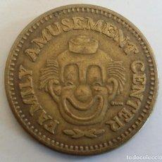 Monedas locales: FICHA DE JUEGO TOKEN. NO CASH VALUE. FAMILY AMUSEMENT CENTER. Lote 150522010