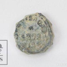 Monedas locales: ANTIGUO SELLO / PRECINTO DE PLOMO - VICH / VIC - SIGLO XIX - DIÁMETRO 15 MM. Lote 112884839