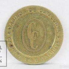 Monedas locales: ANTIGUA FICHA DINERARIA - CASINOS DE CATALUNYA / CC - 25 EURO CENT - DIÁMETRO 26 MM. Lote 112886123