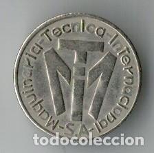 FICHA MAQUINARIA TÉCNICA INTERNACIONAL (Numismática - España Modernas y Contemporáneas - Locales y Fichas Dinerarias y Comerciales)