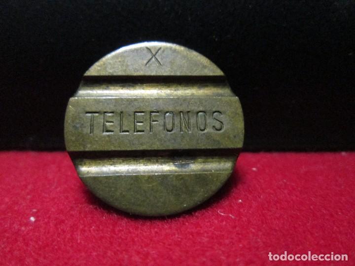 FICHA DE TELEFONOS ESPAÑOLA LETRA X (Numismática - España Modernas y Contemporáneas - Locales y Fichas Dinerarias y Comerciales)